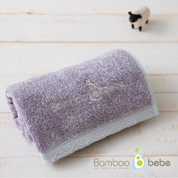 在面巾的温和的竹圈<br>紫色_40cmX80cm