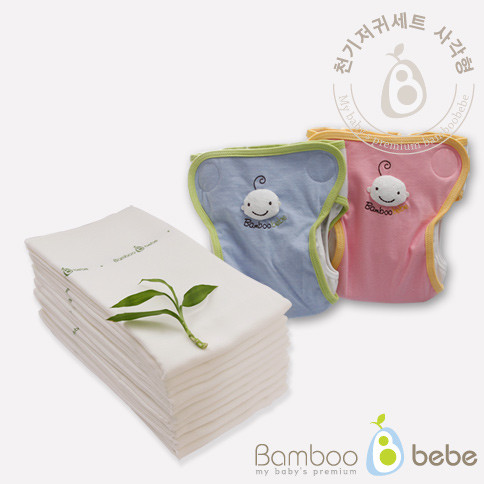 温和的竹布尿布<br>皮疹[Square]预防套装<br> <font color=#3a7eba><b>[10纸尿裤+封面2个]</b></font>