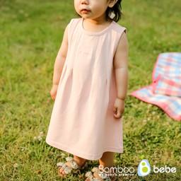 温和的竹节玛琅连衣裙(6~24个月)