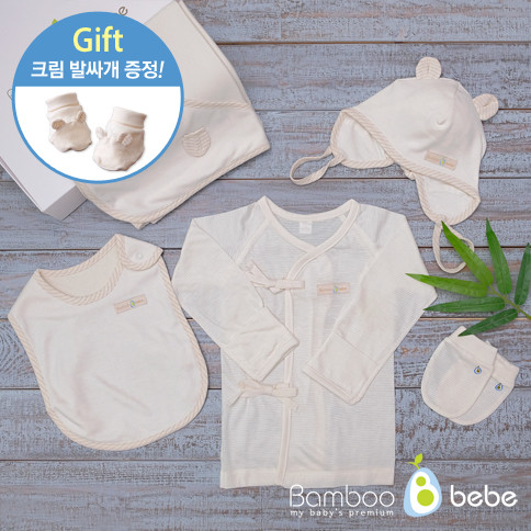 竹子夏季母亲婴儿礼品套装5种<br> <font color=#d2446c><b>[优惠煎饼]</b></font>