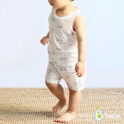 温和竹solsol熊猫袖袖衣衣装(6~24个月)