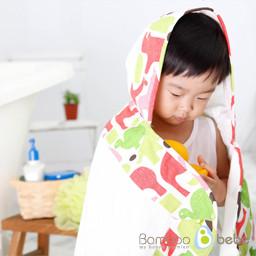温和的竹棍罩毛巾_小动物